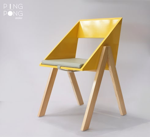 Tria chair:   by PingPong Atelier Furniture