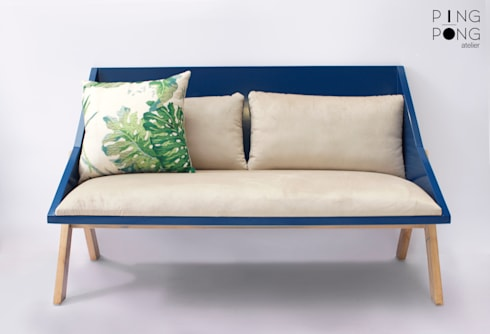 Tria sofa:   by PingPong Atelier Furniture