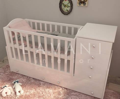 Shabby Chic Nursery Room:  Nursery/kid's room by Lavani Interior