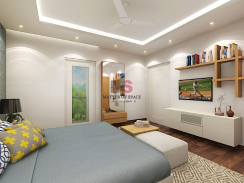 Bhiwadi: modern Bedroom by Matter Of Space Pvt. Ltd.