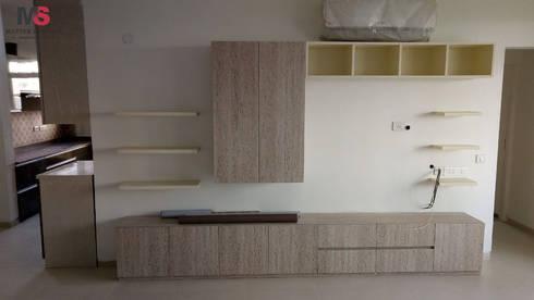 Gurgaon 21: modern Living room by Matter Of Space Pvt. Ltd.