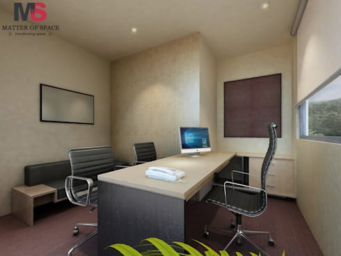 Indusind Bank:  Office buildings by Matter Of Space Pvt. Ltd.