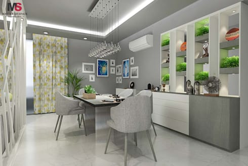 New Town Heights: modern Dining room by Matter Of Space Pvt. Ltd.