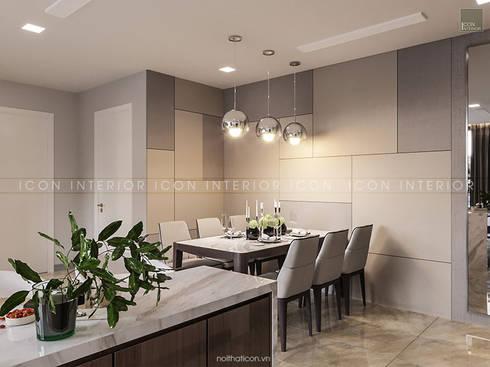AQUA 4 VINHOMES GOLDEN RIVER – DESIGNED BY ICON INTERIOR:  Phòng ăn by ICON INTERIOR