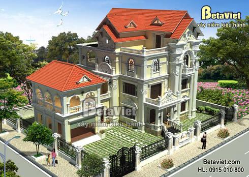 Phối cảnh mẫu thiết kế dinh thự Cổ điển 3 tầng hoành tráng (CĐT: Ông Dương - Lai Châu) BT15001:   by Công Ty CP Kiến Trúc và Xây Dựng Betaviet