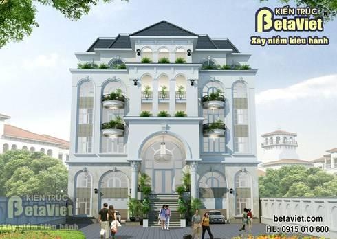 Phối cảnh mẫu thiết kế dinh thự Tân cổ điển 7 tầng đẹp hoành tráng (CĐT:Ông Bình - Hải Phòng) BT14425:   by Công Ty CP Kiến Trúc và Xây Dựng Betaviet