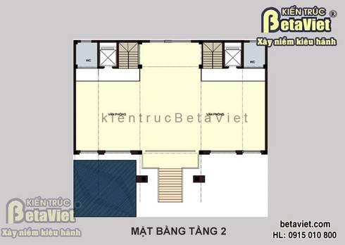 Mặt bằng tầng 2 mẫu thiết kế dinh thự Tân cổ điển 7 tầng đẹp hoành tráng (CĐT:Ông Bình - Hải Phòng) BT14425:   by Công Ty CP Kiến Trúc và Xây Dựng Betaviet