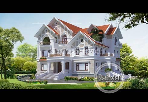 Phối cảnh mẫu thiết kế lâu đài dinh thự đẹp 3 tầng (CĐT: Ông Khâm - Lào Cai) BT14390:   by Công Ty CP Kiến Trúc và Xây Dựng Betaviet
