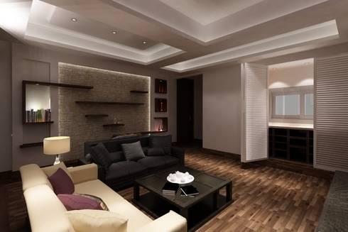 modern Living room by TK Designs