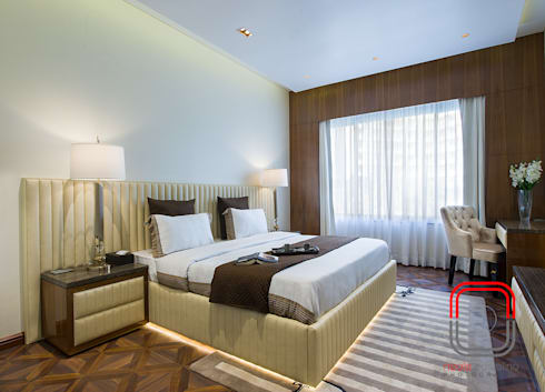 Sample Flat: modern Bedroom by neale castelino Photography