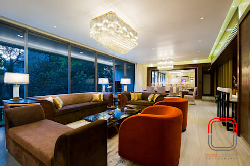 Sample flat: modern Living room by neale castelino Photography