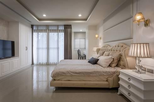 主臥室:  臥室 by 澤序空間設計有限公司