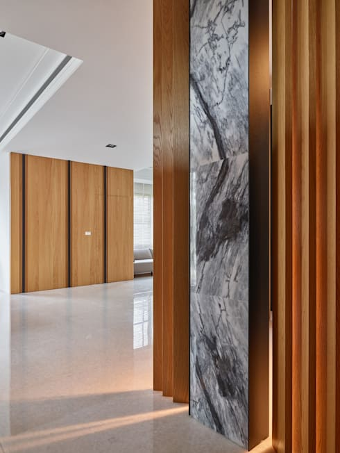 玄關:  客廳 by 澤序空間設計有限公司