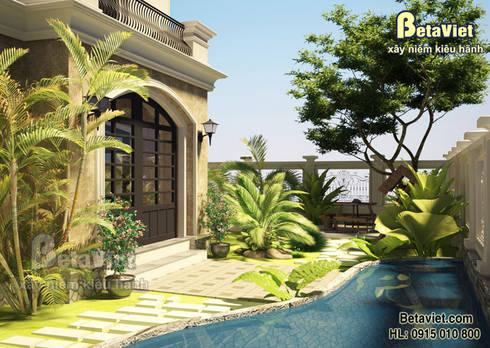 Phối cảnh mẫu thiết kế dinh thự 3 tầng đẹp (CĐT: Ông Hùng - Hải Phòng) BT15011:   by Công Ty CP Kiến Trúc và Xây Dựng Betaviet