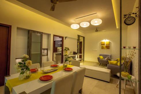 Newry Mock Apt: modern Dining room by Design Dna