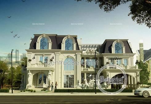 Phối cảnh mẫu thiết kế dinh thự - lâu đài 2 tầng Cổ điển châu Âu (CĐT: Ông Tuân - Quảng Bình) BT14521:   by Công Ty CP Kiến Trúc và Xây Dựng Betaviet