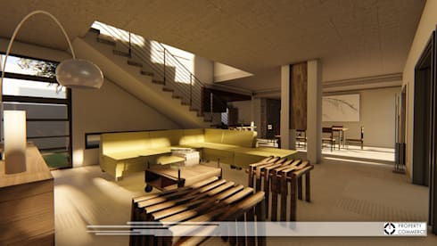 House Dichaba: modern Living room by Property Commerce Architects