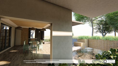 House Du Plessis:  Patios by Property Commerce Architects