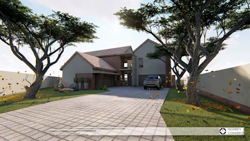 House Ramokoena: modern Houses by Property Commerce Architects