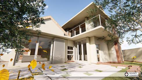 House Ramokoena:  Patios by Property Commerce Architects