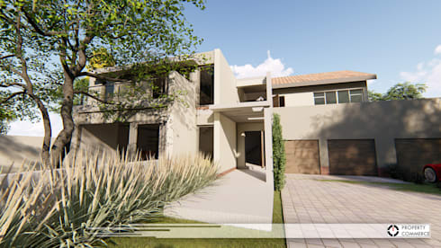 House Moeletsi: modern Houses by Property Commerce Architects
