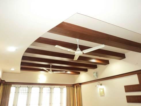 Sathyanarayanan Home Interior Design-7, Bangalore: asian Living room by Bhavana Interiors Decorators