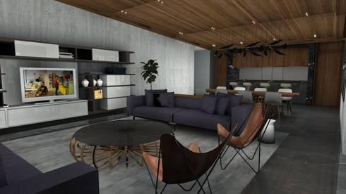 Modern Home:   by BURO DE DISEÑO