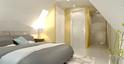 Slaapkamer Op Zolder : Herinrichting zolder met badkamer von stefania rastellino interior