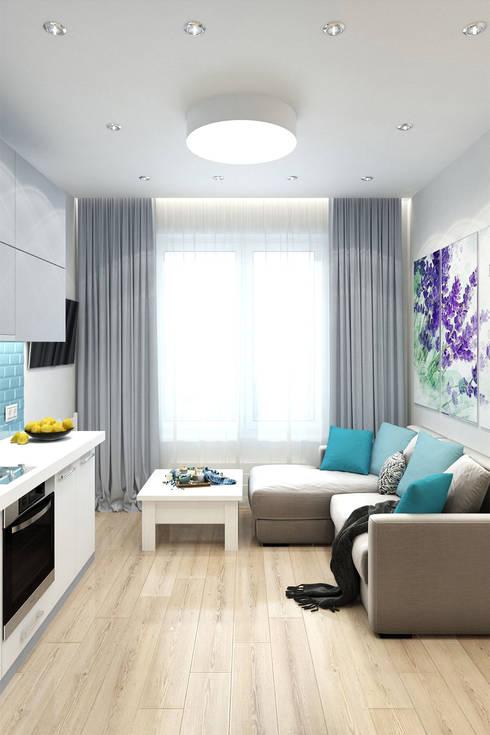Living room by Гузалия Шамсутдинова | KUB STUDIO