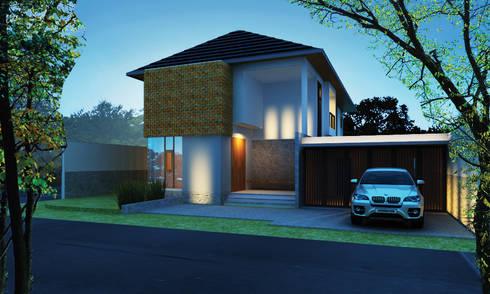 Permata Bumi House:   by Urbanismo Indonesia