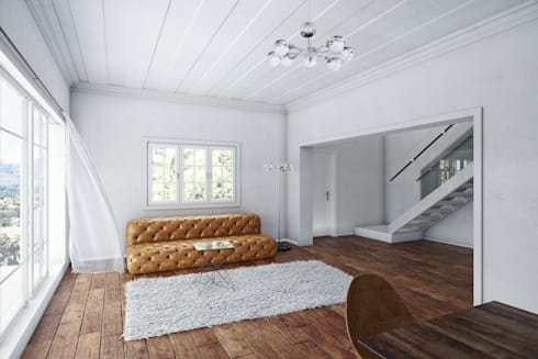 Lounge: minimalistic Living room by 7Storeys