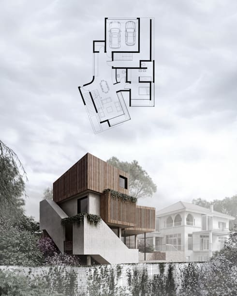 Exterior Front View:  Wooden houses by 7Storeys