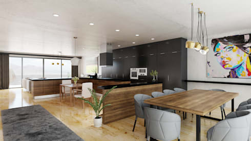Living Area 2: minimalistic Living room by 7Storeys