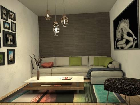Visualizacion final del proyecto: Livings de estilo ecléctico por MM Design