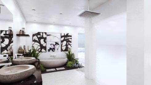 Bathroom: minimalistic Bathroom by 7Storeys