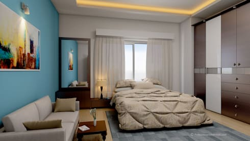 3D Architectural Interior Visualization: modern Bedroom by ThePro3DStudio