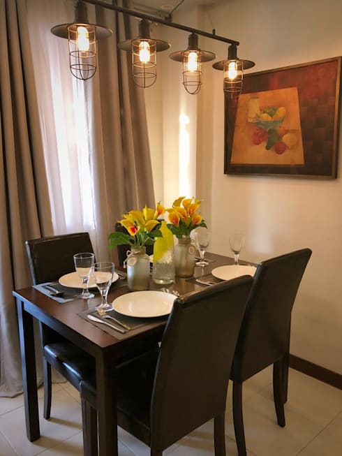 From Plain to Fab: eclectic Dining room by SNS Lush Designs and Home Decor Consultancy