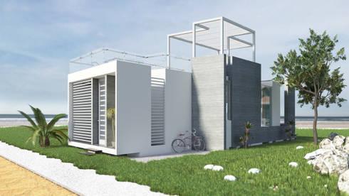 Casa de Playa – Mejía: Casas unifamiliares de estilo  por Inception Architects