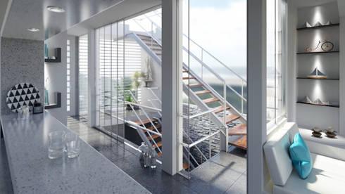 Casa de Playa – Mejía: Escaleras de estilo  por Inception Architects