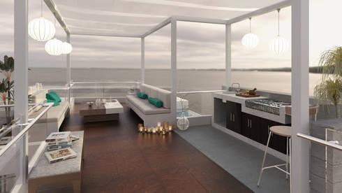 Casa de Playa – Mejía: Salas / recibidores de estilo moderno por Inception Architects