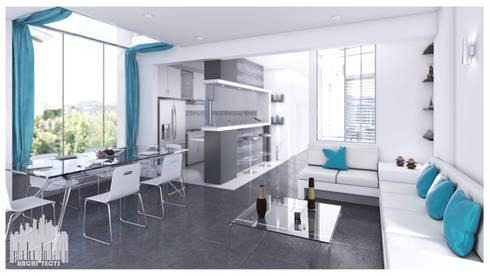 Casa de Playa – Mejía: Comedores de estilo moderno por Inception Architects