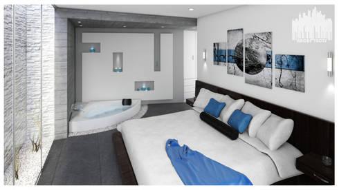 Casa de Playa – Mejía: Dormitorios de estilo  por Inception Architects