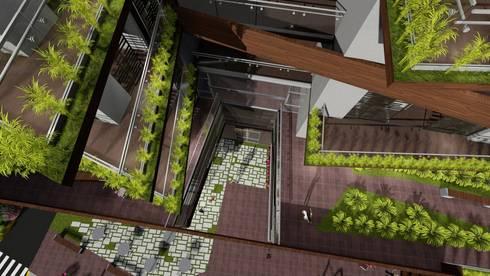 Vista superior: Casas ecológicas de estilo  por Vida Arquitectura