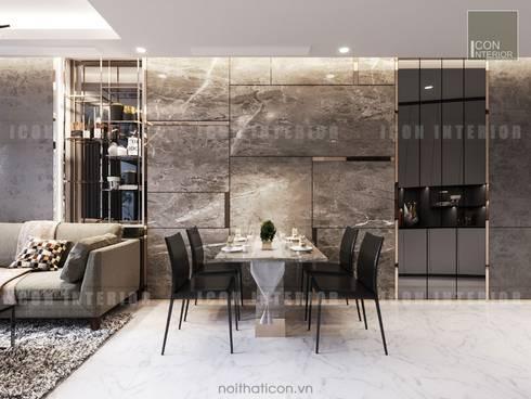 Nội thất chung cư cao cấp Vinhomes Central Park:  Phòng ăn by ICON INTERIOR