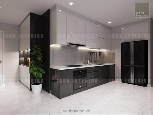 Nội thất chung cư cao cấp Vinhomes Central Park:  Nhà bếp by ICON INTERIOR