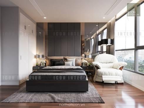 Nội thất chung cư cao cấp Vinhomes Central Park:  Phòng ngủ by ICON INTERIOR