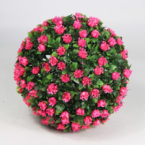 Pink Artificial Topiary Ball:  Interior landscaping by Sunwing Industrial Co., Ltd.