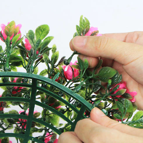 Pink Artificial Topiary Balls:  Interior landscaping by Sunwing Industrial Co., Ltd.
