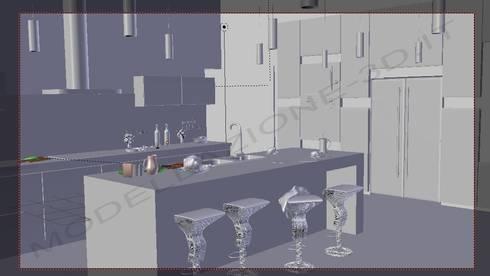 Cucina stile moderno con isola di Modellazione-3d.it   homify