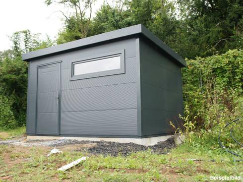go iso hochwertiges gartenhaus isoliert 4 00 x 3 00 m von trapezblech gonschior ohg homify. Black Bedroom Furniture Sets. Home Design Ideas